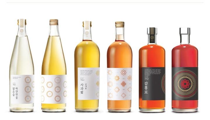 石正林分享:韩国米酒和红酒包装设计图片