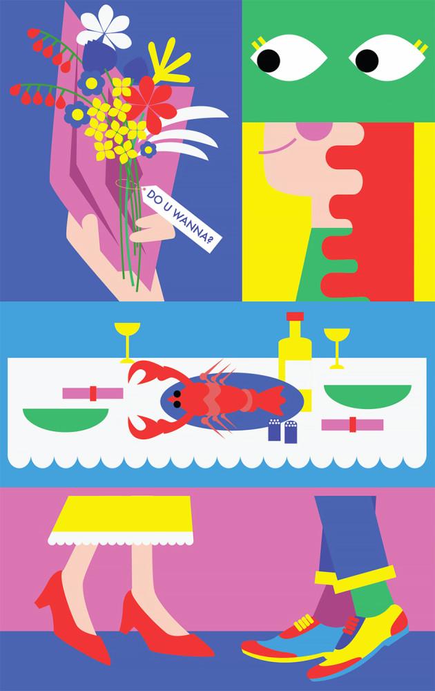 饱和的色彩和图腾意象的线条:Kiki Ljung插画欣赏