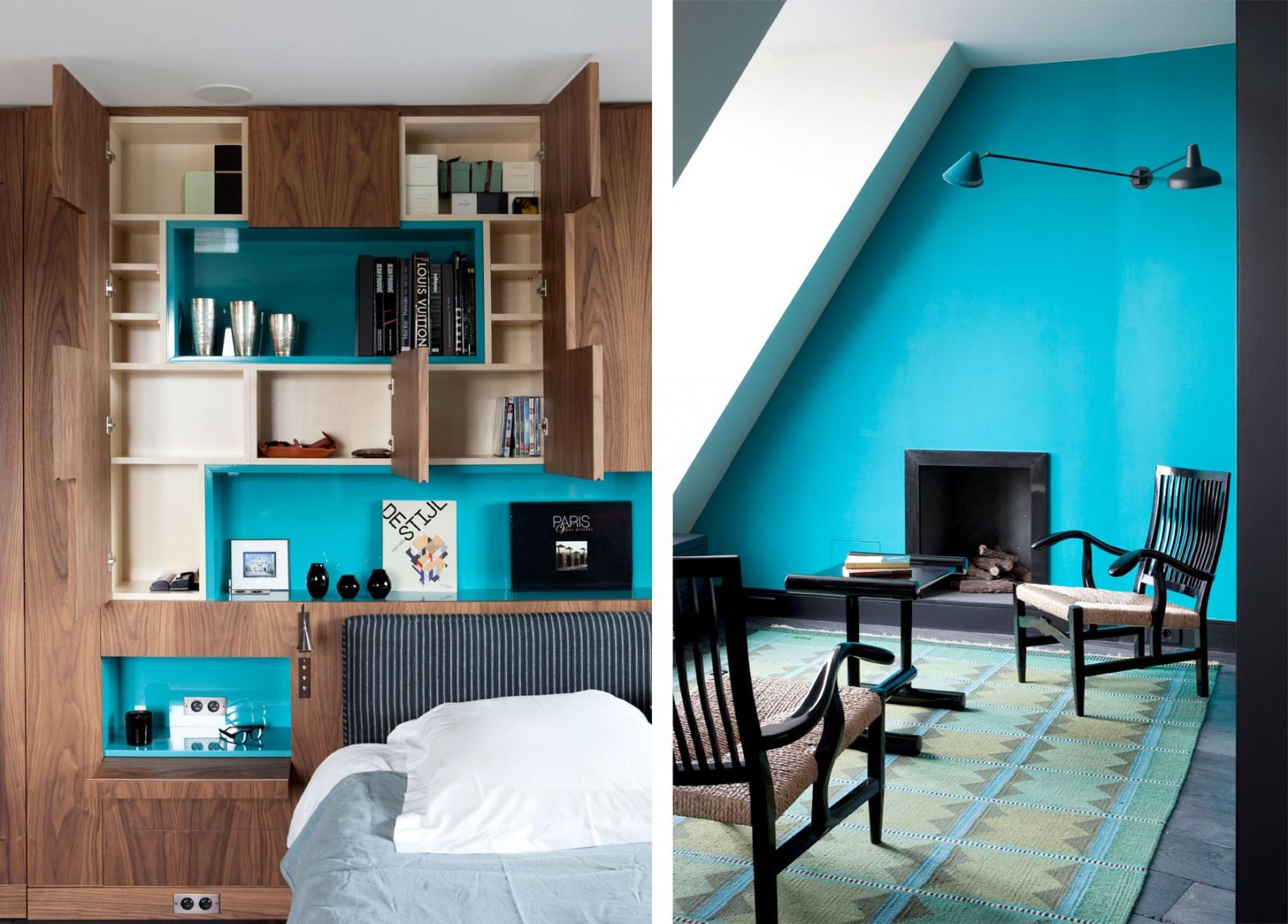 巴黎清新复式公寓设计图片