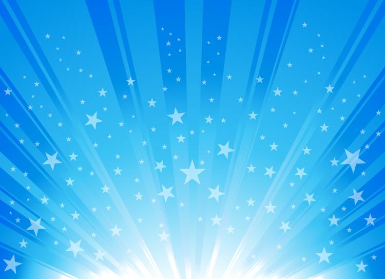 本地资讯_蓝色星星放射线背景矢量素材 - 设计之家