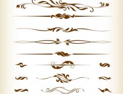 页面装饰花纹元素矢量素材