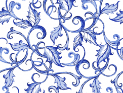 蓝色花卉装饰无缝背景矢量素材