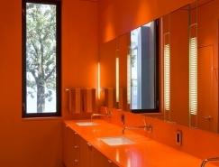 大胆的色彩:7个现代家庭卫生间皇冠新2网