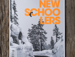Newschoolers滑雪雜誌版麵設計