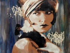 西班牙Andrea Michaelsson街头涂鸦艺术作品