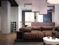 基辅极简开放式公寓设计