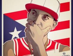 Souliers Maxime:Hip Hop歌星插画设计