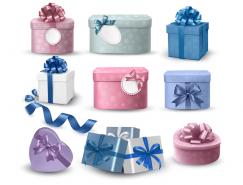 9款礼品盒矢量素材