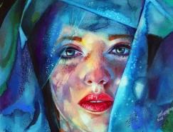 Christina Papagianni惊艳色彩的肖像插画欣赏