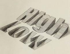 Lex Wilson创意3D字体设计