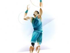 Matt Stevens几何形状体育人物插画