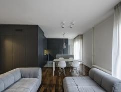 意大利极简开放式布局公寓装修