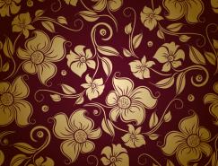 精美花卉無縫背景矢量素材(2)