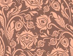 精美花卉無縫背景矢量素材(1)