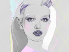 Cristina Polop手绘人物肖像插画