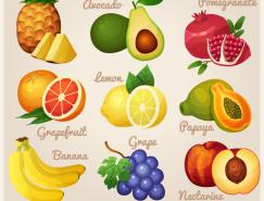 9种美味水果矢量素材
