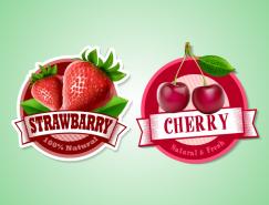 3款水果标签矢量素材