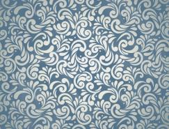 复古花纹无缝背景矢量素材(1)