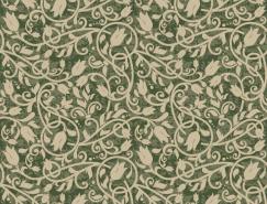 复古花纹无缝背景矢量素材(7)