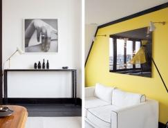 巴黎清新复式公寓设计