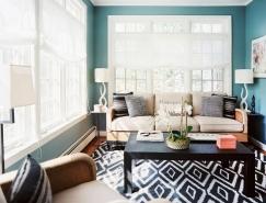 混合经典和现代细节的纽约公寓设计