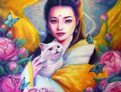 HuanLe中国风肖像插画欣赏