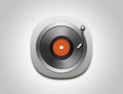 Photoshop制作精致的金属音乐播放器图标