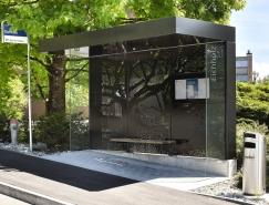 创意的穿孔板图案:优雅的瑞士巴士站设计