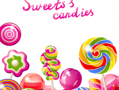 彩色棒棒糖背景矢量素材