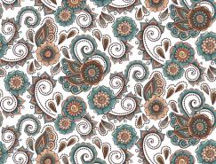 装饰花朵花纹无缝背景矢量素材