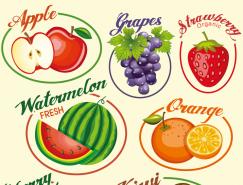 6款水果标签矢量素材