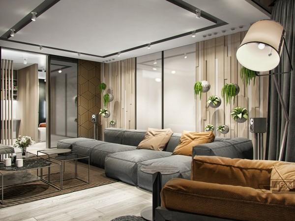 基辅170平时尚精致公寓装修效果图
