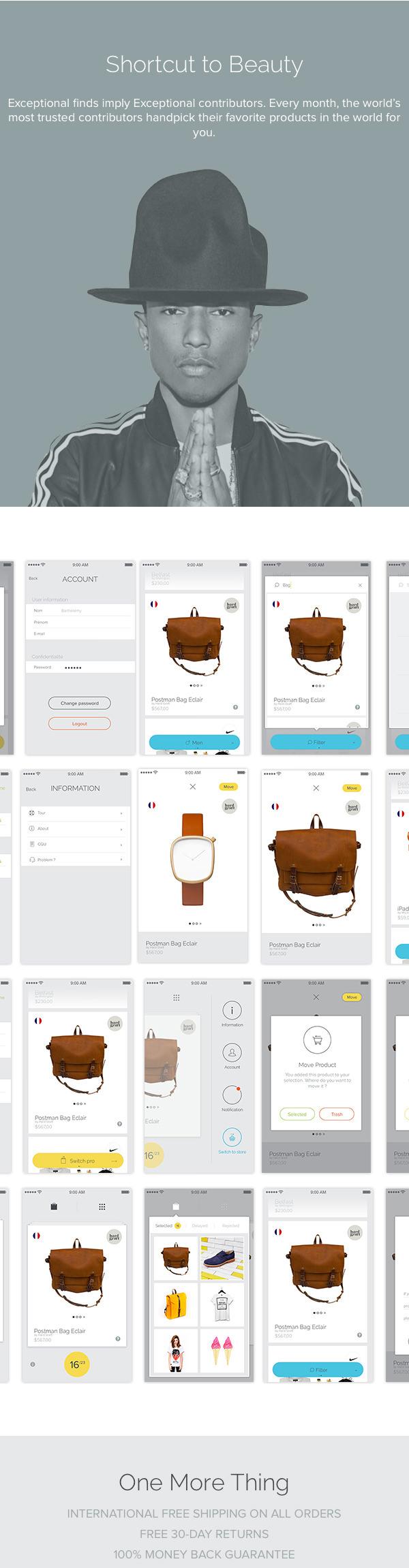 Barthelemy Chalvet UI/UX设计作品
