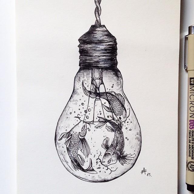 关于瓶子的素描图片以及步骤