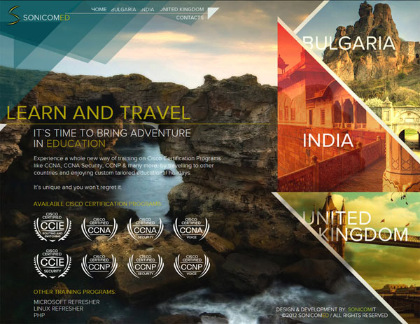 30个精彩的国外旅游网站设计