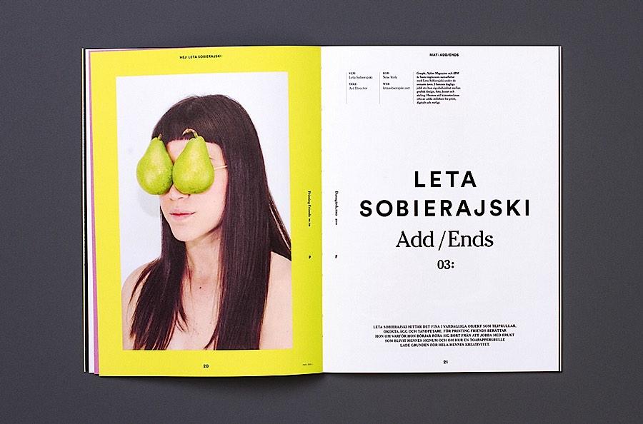 Printing Friends杂志版面设计