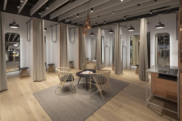 快时尚品牌lindex伦敦专卖店室内空间设计 设计之家