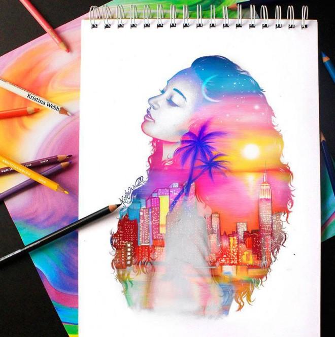 217 Best Images About Paint Colors On Pinterest: Kristina Webb创意彩铅插画作品(2)