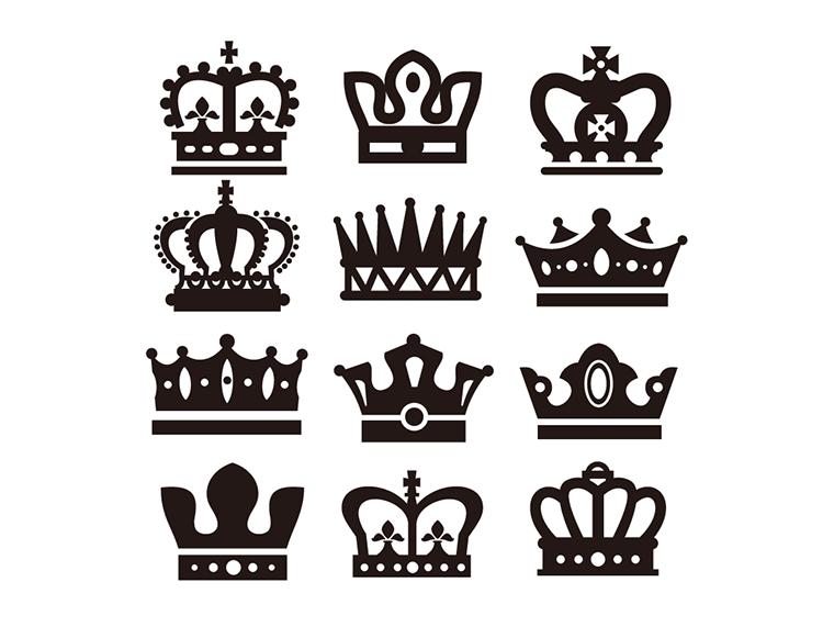 皇冠剪影矢量素材(7)