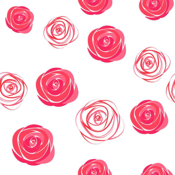 水粉玫瑰花背景矢量素材