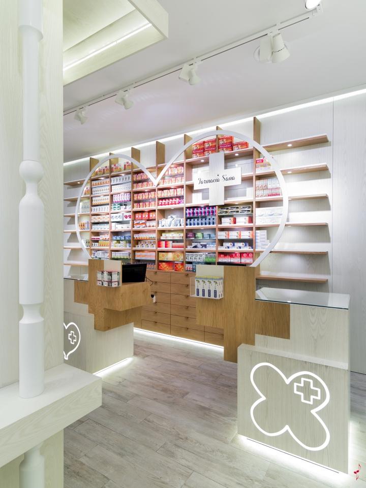S´ana药店室内设计