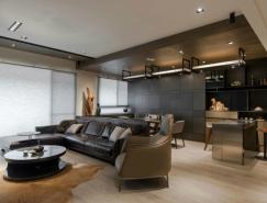 低调沉稳的暗黑系风格公寓装修