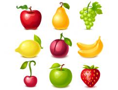 美味水果图标矢量素材(1)