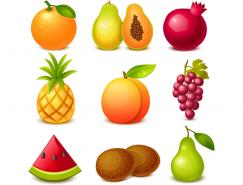 美味水果图标矢量素材(2)
