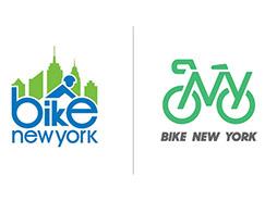 非盈利性的慈善机构纽约骑车(Bike New York)启用新logo