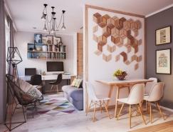 2个漂亮的50平米小公寓设计