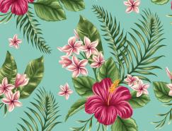 美丽的花朵复古图案背景矢量素材(2)