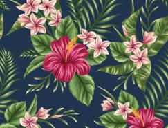 美丽的花朵复古图案背景矢量素材(4)