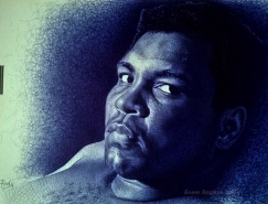 Enam Bosokah照片级的圆珠笔肖像画欣赏