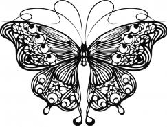 线描蝴蝶矢量素材